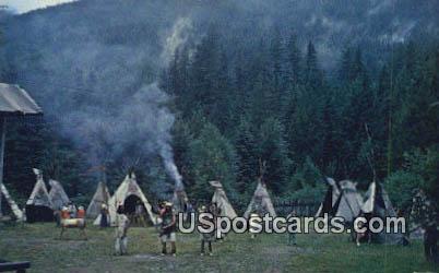 Frontier Village - Mt Rainier, Washington WA Postcard