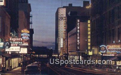 Wall Street - Spokane, Washington WA Postcard