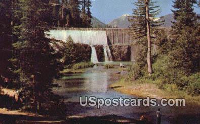 Clear Lake Dam - Rim Rock Lake, Washington WA Postcard