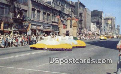 Daffodil Parade, Tacoma - Washington WA Postcard