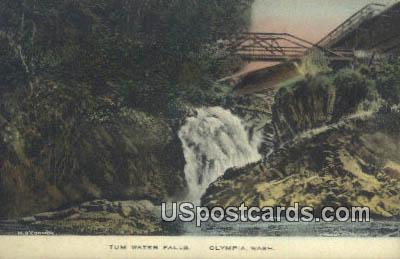 Tum Water Falls - Olympia, Washington WA Postcard