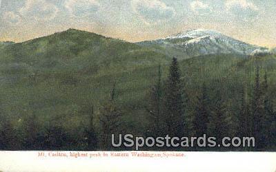 Mt Carlton - Spokane, Washington WA Postcard
