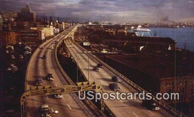 Alaksa Way Viaduct - Seattle, Washington WA Postcard