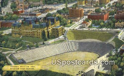 Tacoma Stadium, High School - Washington WA Postcard