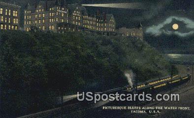 Bluffs, Water Front - Tacoma, Washington WA Postcard