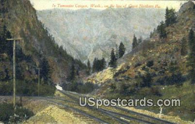 Great Northern Ry - Tumwater Canyon, Washington WA Postcard