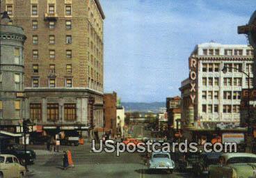 Theater District - Tacoma, Washington WA Postcard