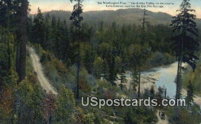 Elwha Valley - Lake Crescent, Washington WA Postcard