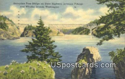Deception Pass Bridge - Whidby Island, Washington WA Postcard