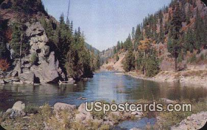 Stevens Pass Highway - Wenatchee River, Washington WA Postcard