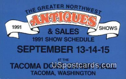 Antiques, Tacoma Dome Exhibit Hall - Washington WA Postcard
