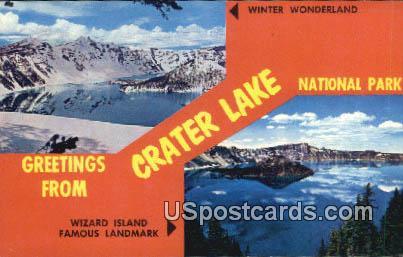 Wizard Island, WA Postcard      ;      Wizard Island, Washington
