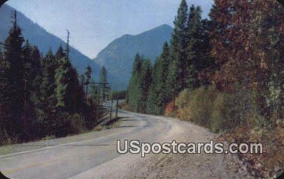 Stevens Pass Highway - Cascade Range, Washington WA Postcard