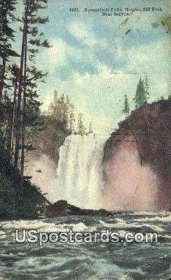 Saoqualmie Falls - Seattle, Washington WA Postcard