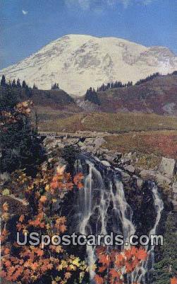 Mt Rainier - Myrtle Falls, Washington WA Postcard