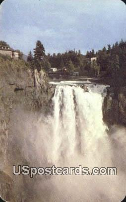 Snoqualmie Falls - Cascade Mountains, Washington WA Postcard