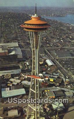 Space Needle - Seattle, Washington WA Postcard