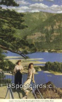 Columbia River, Washington Postcard     ;      Columbia River, WA