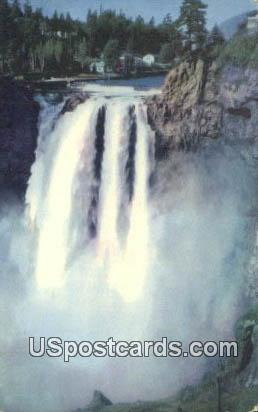 Snoqualmie Falls - Seattle, Washington WA Postcard