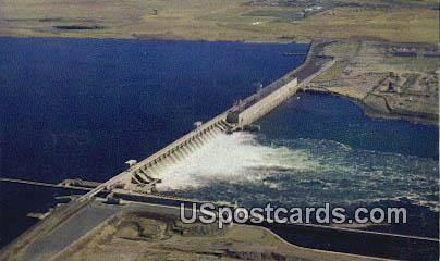 McNary Dam Aerial - Columbia River, Washington WA Postcard