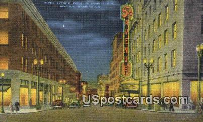 Fifth Avenue, University Street - Seattle, Washington WA Postcard