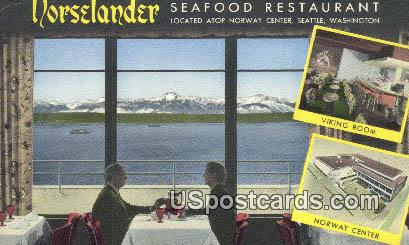 Norselander Seafood Restaurant - Seattle, Washington WA Postcard