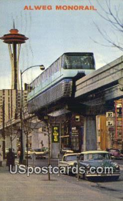 Alweg Monorail - Misc, Washington WA Postcard