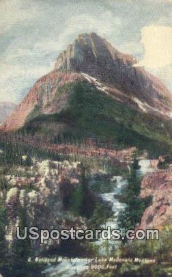 Bullhead Mountain - Lake McDonald Montana, Washington WA Postcard