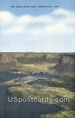 Dry Falls State Park, WA Postcard      ;      Dry Falls State Park, Washington