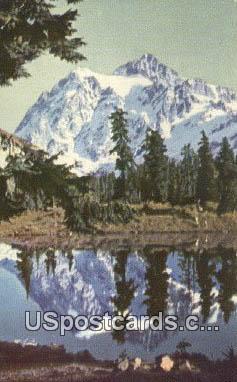 Mount Shuksan, WA Postcard      ;      Mount Shuksan, Washington