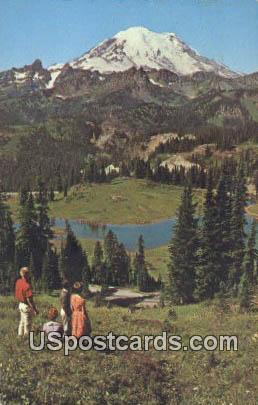 Mt Rainier - Tipsso Lake, Washington WA Postcard