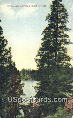 Spokane Summer Resort - Hayden Lake, Washington WA Postcard