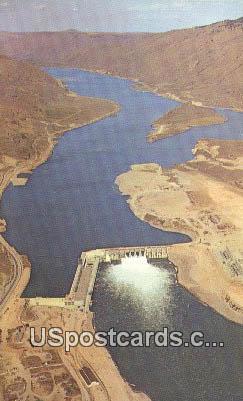 Rocky Reach Dam & lake - Entiat, Washington WA Postcard