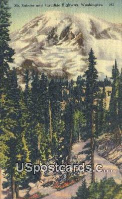 Paradise Highway - Mt Rainier, Washington WA Postcard