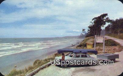 Pacific Ocean - Olympic Highway, Washington WA Postcard