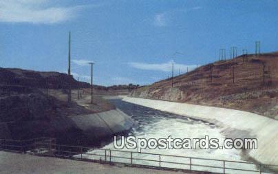 Irrigation Canal - Grand Coulee Dam, Washington WA Postcard