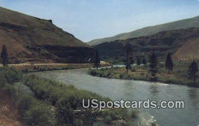 Yakima Ellensburg Highway, Washington Postcard     ;      Yakima Ellensburg Highway, WA