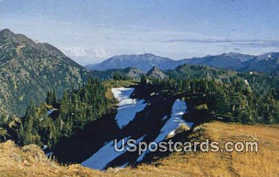 Olympic Mountains, Washington Postcard     ;      Olympic Mountains, WA