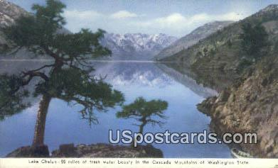Lake Chelan - Cascade Mountains, Washington WA Postcard