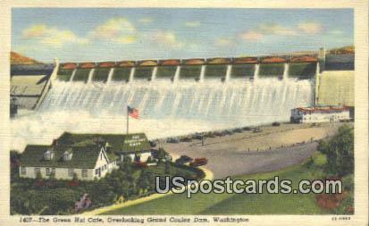 Green Hut Caf» - Grand Coulee Dam, Washington WA Postcard