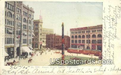 Pioneer Square - Seattle, Washington WA Postcard