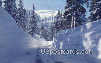 Mile High Snowbanks - Cascade Mountains, Washington WA Postcard