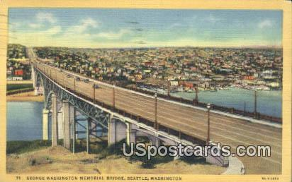 George Washington Memorial Bridge - Seattle Postcard
