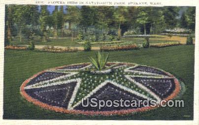 Flower Beds, Natatorium Park - Spokane, Washington WA Postcard