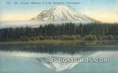 Mt Tacoma - Lake Spanaway, Washington WA Postcard