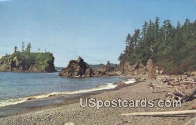 Pacific Ocean Beach, Washington Postcard     ;      Pacific Ocean Beach, WA