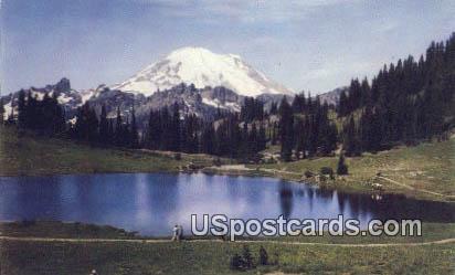 Mt Rainier - Tipsu Lake, Washington WA Postcard