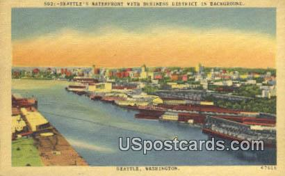 Seattle's Waterfront - Washington WA Postcard