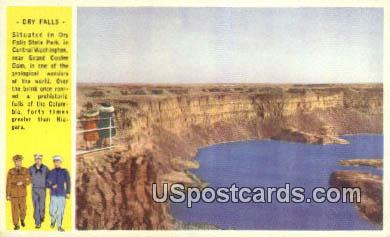 Dry Falls, Washington Postcard     ;      Dry Falls, WA