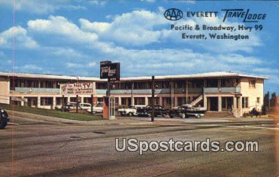 Everett Travelodge - Washington WA Postcard
